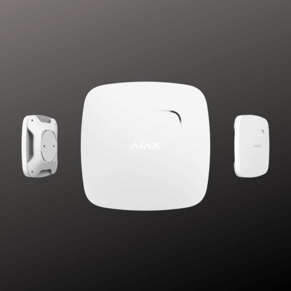 Датчик диму ajax fire protect plus білого кольору