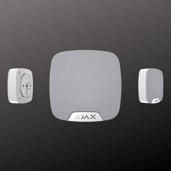 Сирена для дома ajax home siren сірого кольору