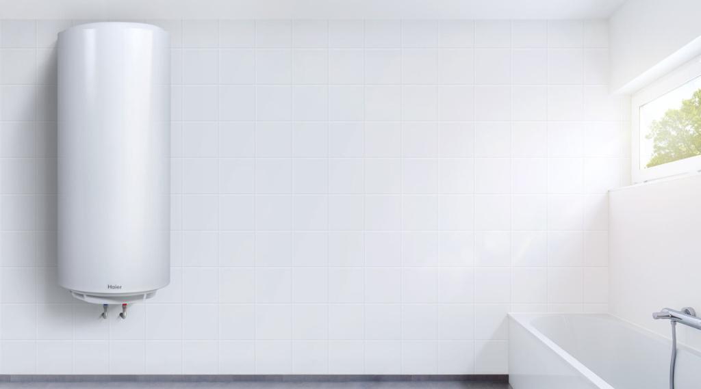 Бойлер встановленний у ванній кімнаті