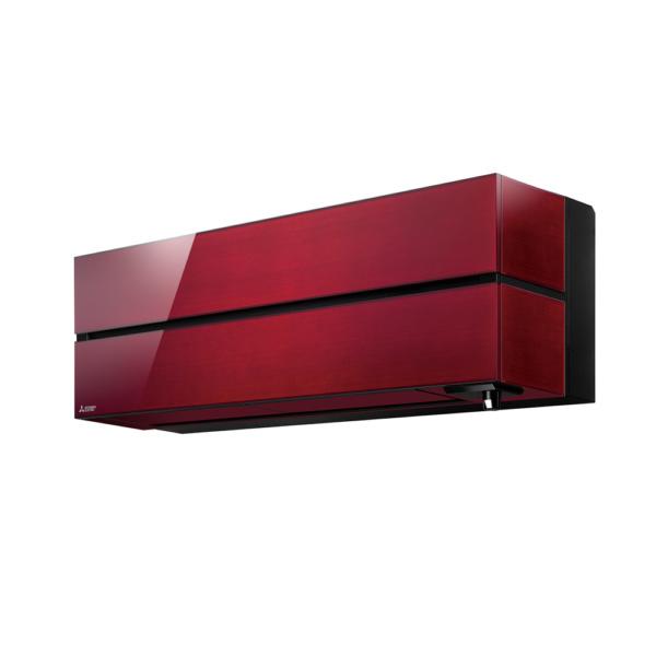 Червоний Кондиціонер mitsubishi серії msz - вигляд збоку